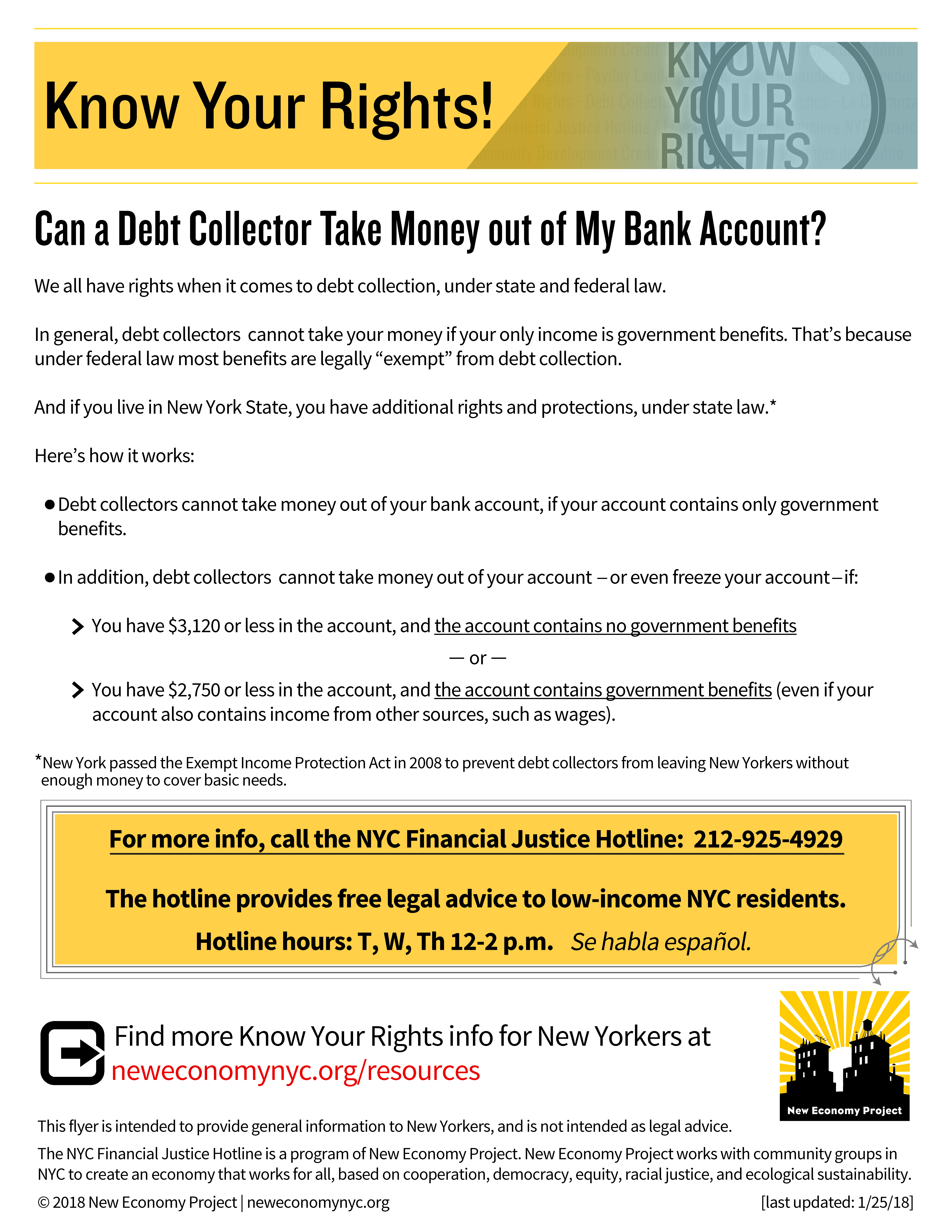 Frozen bank accounts new economy project medical bills and bank loans if you have child support debt or if you owe money to the government for taxes or a student loan different rules apply altavistaventures Image collections