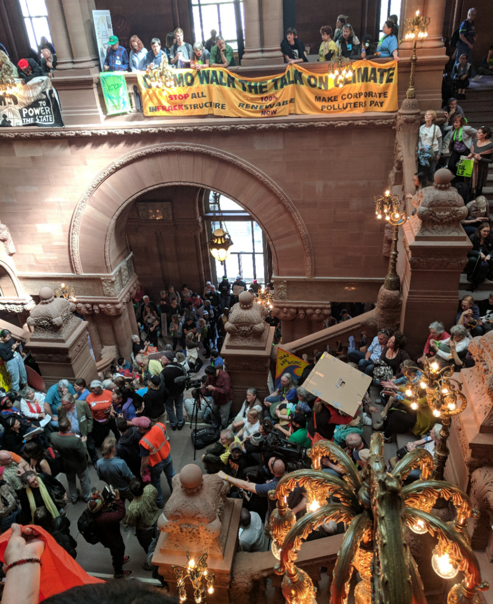 Activists on the Millenium Staircase
